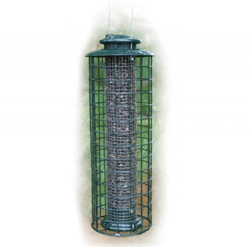 Caged Tube Squirrel Proof Bird Feeder