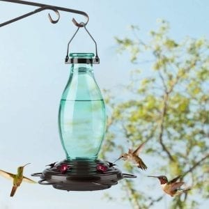 Hummingbird Feeders Retro Edison Bulb Bottle