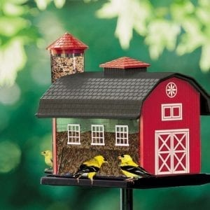 Red Barn Combo Bird Feeders