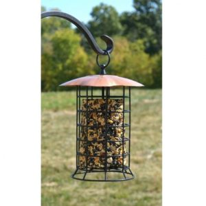 Copper Roof Suet Seed Log Feeder